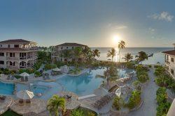 Coco Beach pool at sundown