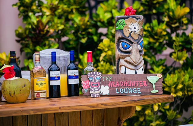 Drink selections at Restaurant and Pool Bar