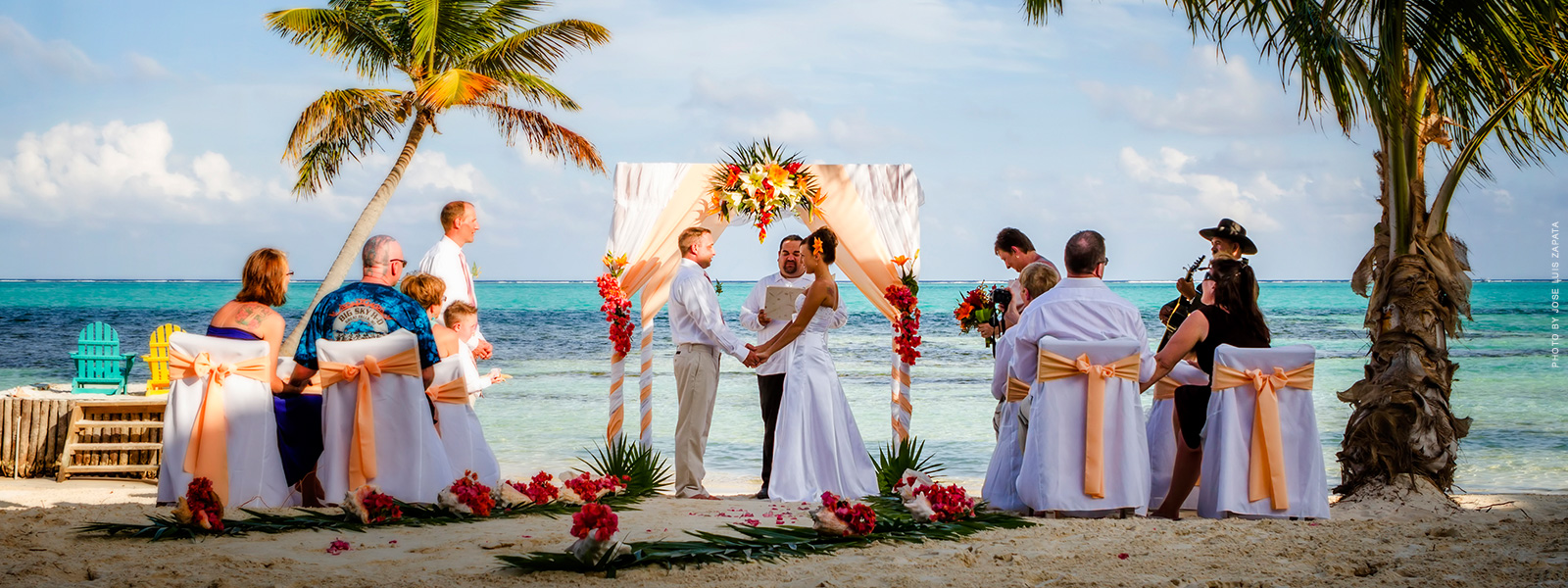 belize weddings and honeymoons at sandy point resorts photo by jose luis zapata