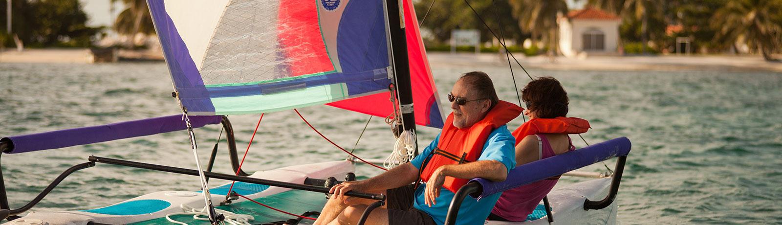 Hobie Cat Sailing in Belize, Belizean Shores Resort