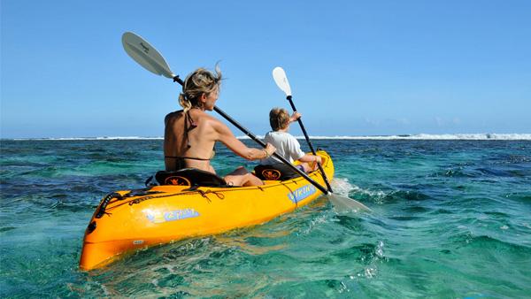 Kayaking on the Reef, Ambergris Caye, Belize