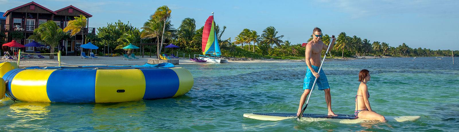Paddle Board Fun at X'tan Ha Resort
