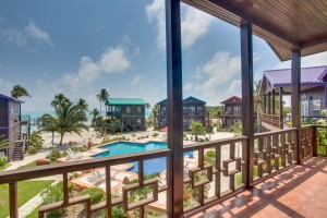 X'tan Ha Beachfront Belize Resort Poolview Villa Balcony