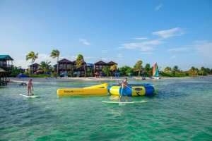 X'tan Ha Waterfront Beach Resort Belize Paddleboard Water Trampoline