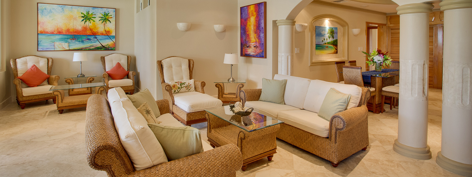 Living Room Rentals Villa Del Paraiso  Belize Luxury Beachfront Vacation Rental