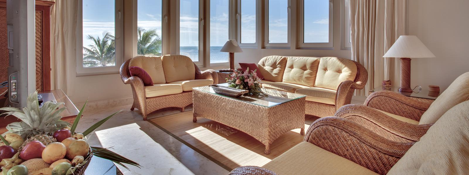 Belize Vacation Rentals Villa del Mar Living Room