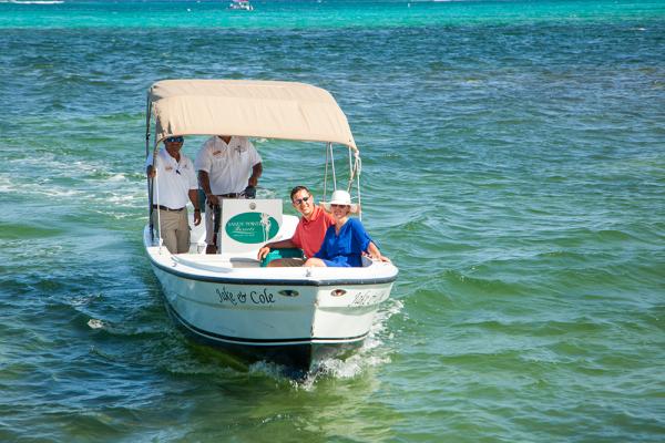 Sandy-Point-Resorts-boat-transfer-to-resort