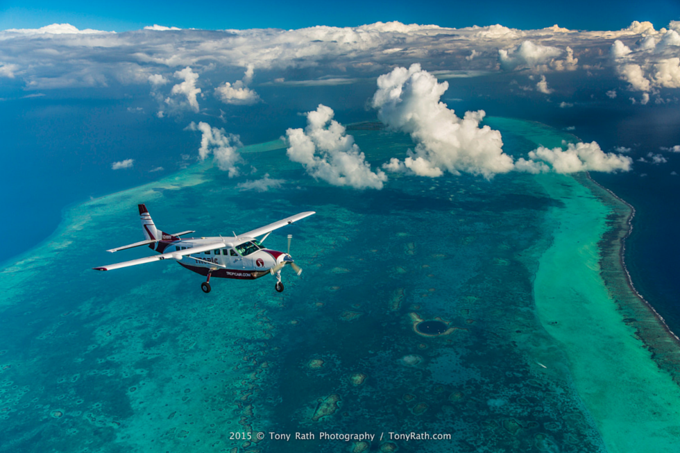 Tropic Air Over the reef