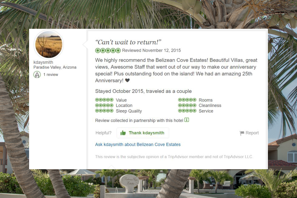 belizean cove review