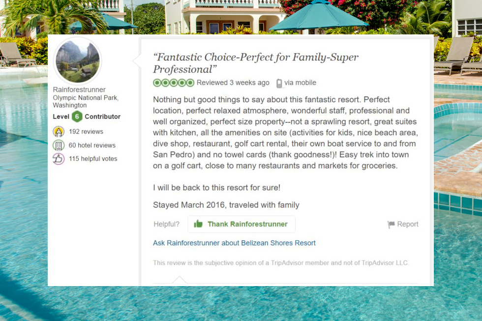 Belizean Shores Resort review