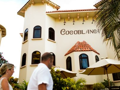 Dining at Coco Beach- inside Cocoblanca Restaurant