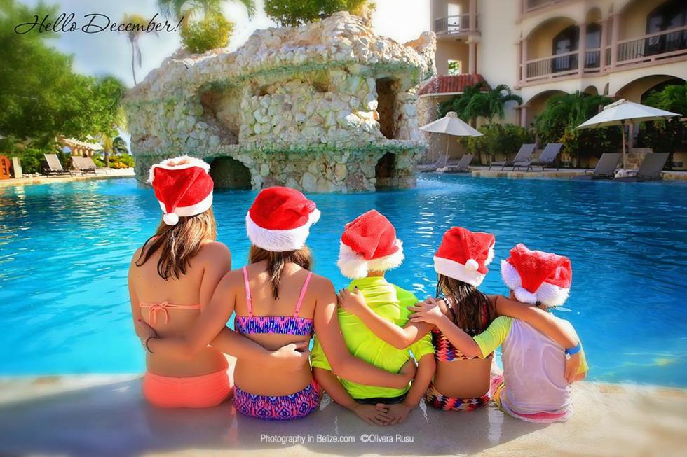 Christmas Pool photo at Coco Beach