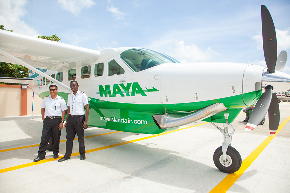 Maya Flight from Belize to San Pedro town