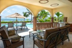 Balcony and pool area in Villa Paraiso