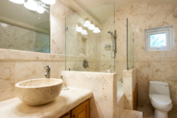 Bathroom - shower and sink in Villa Paraiso