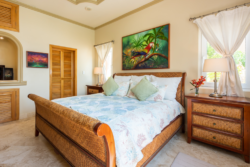 Bedroom with closet and furnitures in Villa Paraiso