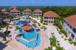 Aerial- Pool Belizean Shores