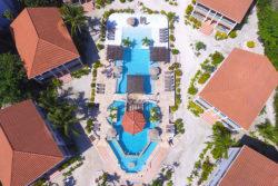 Aerial- Pool Belizean Shores
