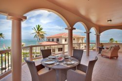 Outdoor dining on private balcony
