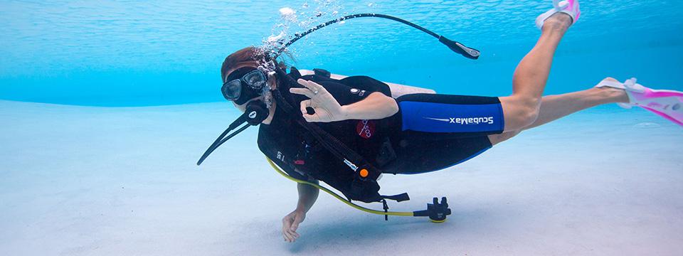 Scuba Diver on Ocean Floor