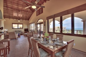 Coco Beach Resort Luxury Belize Resort Seaview Penthouse Dining and Living