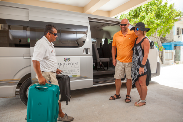 Sandy-Point-resorts-guest-preparing-for-their-transfer-to-resort