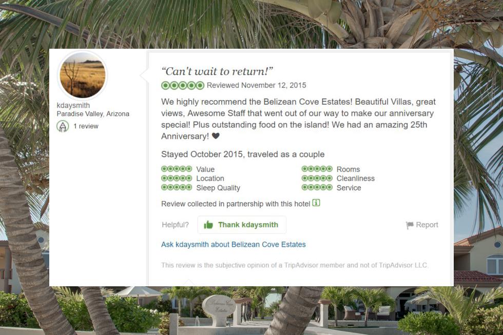 belizean cove review