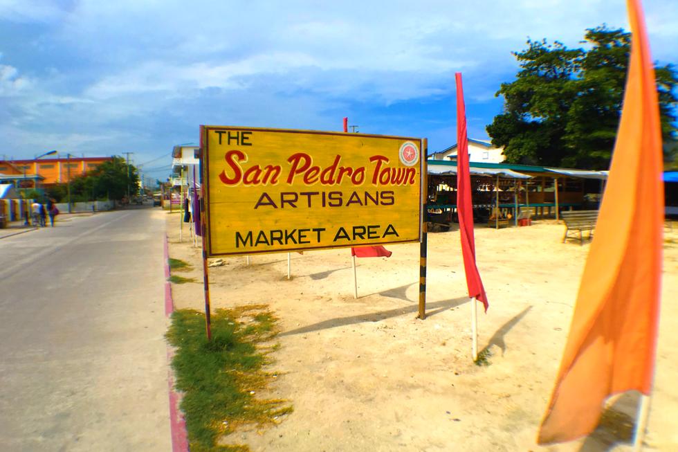 San Pedro Town Artisians Market Area