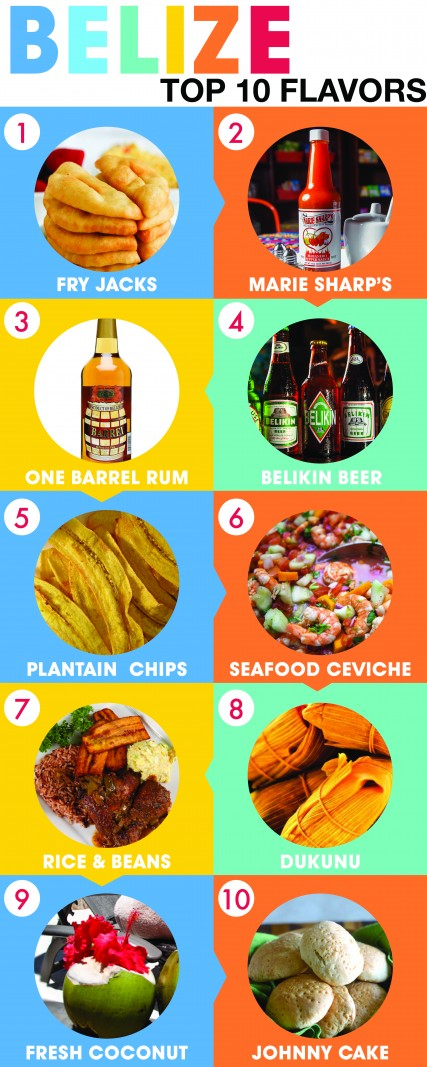 Top 10 tastes of belize